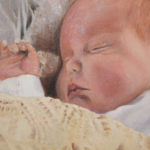 Baby Nathan olieverfportret 2017 30 x 40