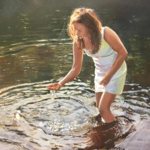 Vrouw in water 2020